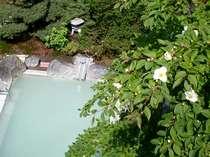 【女性露天風呂】「美肌の湯」季節の草木を愛でながらの湯めぐりもまた癒しの時。