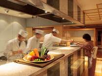 【お食事処「湯の里」】オープンキッチン(イメージ)