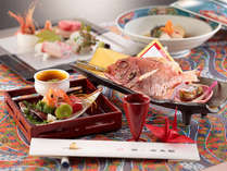 【祝会席膳(イメージ)】ご長寿プランの為の和食会席膳です。