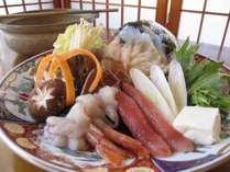 あわび&海鮮しゃぶしゃぶ◎野菜も海鮮もた~ぷりっ♪豪快舟盛り付き
