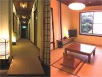 昭和館2階廊下&客室