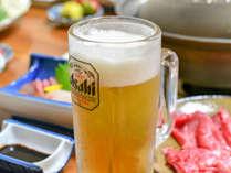ハチ北の宿では瓶ビールが大半ですがなかやでは生ビールもお楽しみいただけます。