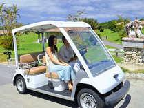 【レンタルカート】広い園内はレンタルカートで楽々移動が可能です(5人乗り)