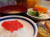 ご朝食◇博多名物<明太子>は是非食べてみて下さいね♪