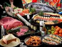 【Premiumバイキング】地産地消をテーマに紀州の食材を中心に150種類以上のメニュー ※画像はイメージです