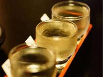 当館23種の地酒から厳選した3種をお楽しみください