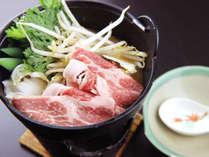 味噌ダレで煮込んだすき焼き風「ゆばた鍋」
