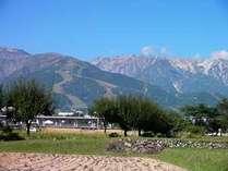 白馬三山の絶景スポットです、晴れた日の写真やスケッチに。