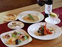 ◆J棟と同じ敷地にあるイタリアンレストラン【ルポゼ白馬】お食事一例