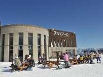白馬岩岳山頂に位置するカフェテリアレストラン