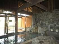北アルプスの眺望とやわらかなお湯が特徴(みみずくの湯)併設するみみずく茶屋は「温泉うどん」が名物
