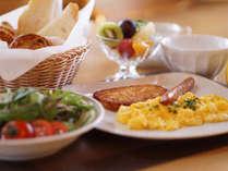 ■ルポゼ白馬レストランにて 朝食一例アメリカンスタイルでご用意致します