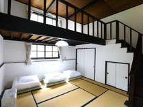 E棟 メゾネットタイプの和室寝室ご家族連れに大人気のメゾネットルーム