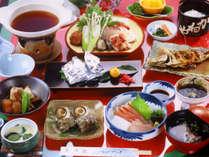■さざなみ会席(一例)■玄界灘産の新鮮魚介類を堪能できるスタンダードコースです♪