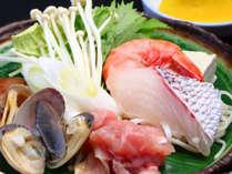 新鮮な海の幸で作る海鮮鍋は格別です