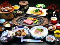 【荒波会席~秋~】新鮮な海の幸に壱岐牛のステーキ+あわびを思う存分ご堪能下さい!