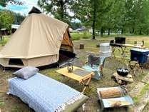 【キャンプ場】青空の下みんなでわいわい楽しもう♪ *設営はイメージです。