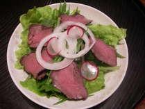 鹿肉のローストと畑野菜のサラダ