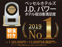 J.D. パワー2019年ホテル宿泊客満足度第1位