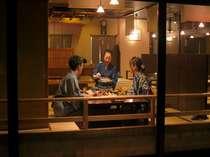 お食事処では温かいお料理とおもてなしを愉しんで