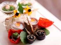 季節の食材を彩る一皿 前菜 [夏一例]