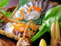 プリップリの食感を愉しむ地蛸と鯛のしゃぶしゃぶ [夏一例]