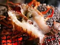 味噌も美味しい伊勢海老は絶妙の焼き加減でテーブルへ[夏一例]
