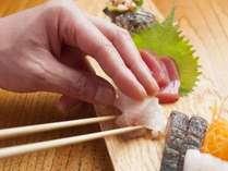 旬の魚介を使用したお造り盛り合わせ