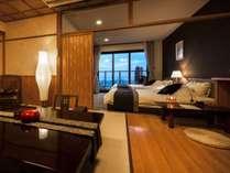 【展望風呂付客室】和モダンの和洋室