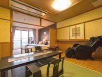 【展望風呂付客室】和洋室の客室には全室マッサージチェアが完備。