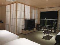 【特別フロア】客室イメージ。障子の向こうは展望温泉風呂。