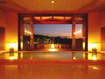 大浴場「流風」は、美人湯を満たす、はなれの浴場。