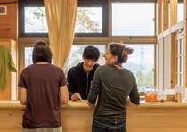 海外からの利用客も多く、お客様同士の交流もひとつの楽しみ