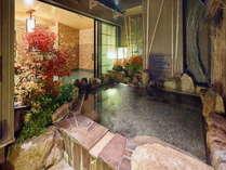 ■露天風呂に入りながら紅葉も感じられます