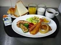 ☆無料バイキング朝食☆洋食派の方にはこんな取り方も出来ます♪