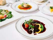 シェフオススメ、当館で一番人気のフルコースディナープラン
