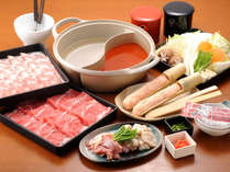 *【夕食例】しゃぶしゃぶ膳のお食事も好評です!