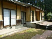 中尾山伝習館:宿泊施設の外観です。通りに面していません。