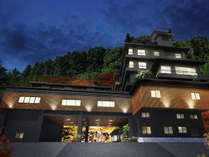 【完成イメージ】鳴子風雅/ホテル外観。温泉神社、共同浴場「滝の湯」すぐ。