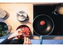 ◇共同キッチン◇長期滞在の方でも、お財布に優しく、北海道産の新鮮な食材をお楽しみ頂けます!