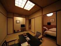 テラス付客室『月代』やまゆり 和洋室 お部屋全景