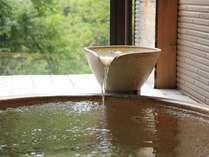 客室露天風呂 お風呂は日光名水『吟龍水』利用