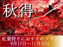 【秋得】秋のお得値プラン♪ 貸し切り風呂45分間無料!!