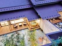 別邸【アクア】ラグジュアリー感の漂う水盤と、露天風呂付きと上質空間。