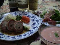 高原野菜たっぷりの夕食