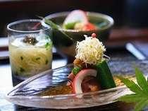 夏の前菜 三種盛り(一例)