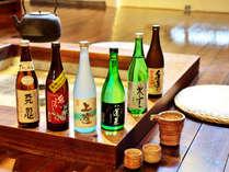 飛騨の銘酒/銘柄は常時5種類完備しております。