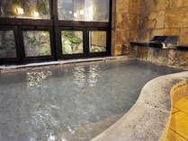 天然温泉浴槽