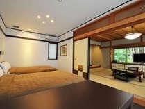 【竜胆】セミダブルサイズのツインベッド+和室10畳のスイートルーム