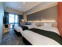 【ツインルーム】部屋の広さは21平米とコンパクトなつくり